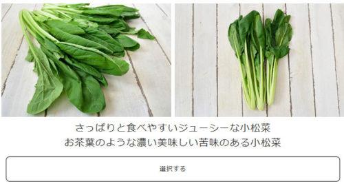 野菜の食べ比べ